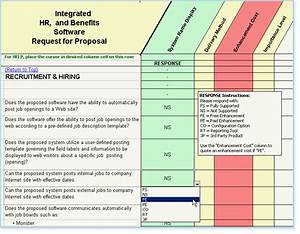 hr software selection rfp human resource management software With software vendor comparison template