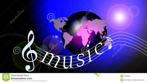Internet Music World Notes Stock Photo Image Of Sounds