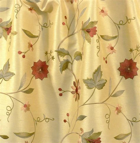 Floral Drapery Fabric drapery upholstery fabric embroidered floral faux silk