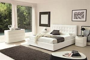 modern white bedroom design interiordecodircom With couleur de chambre tendance