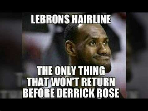 Lebron James Hairline Meme - lebron james hairline memes youtube