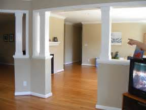interior home columns half wall columns interior decorating