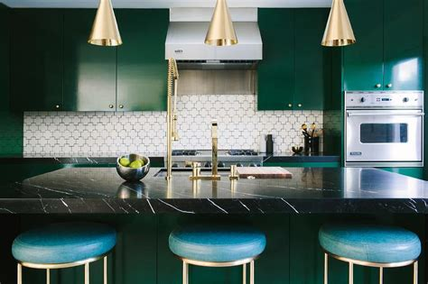 Emerald Green Kitchen Cabinets  Contemporary Kitchen