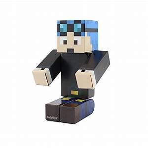 Blue Hair Miner Boy Action Figure Toy, 4 Inch Custom ...
