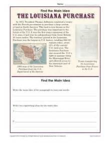5th grade idea worksheet about the louisiana purchase