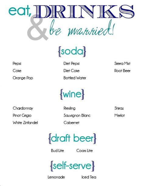 Wedding Drink Menu Template Free by Wedding Trend Ideas Linen Wedding Dresses