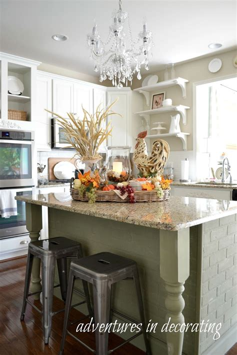 adventures  decorating   fall kitchen