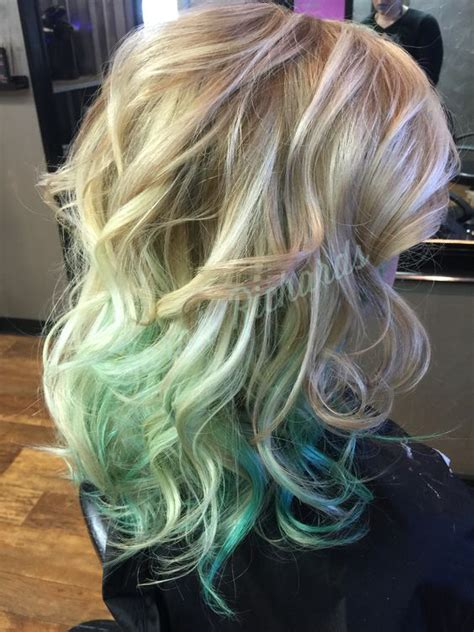 blonde  green ombre hair color ideas hair colors ideas