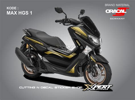 Nmax 2018 Warna Hitam by Jual Stiker Nmax Hitam Gold Cutting Sticker Nmax 2018 Di