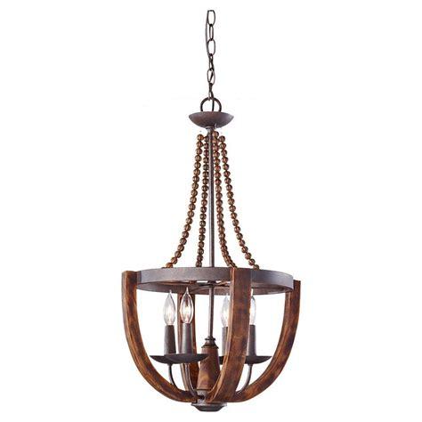 rustic wood chandelier feiss adan 4 light rustic iron burnished wood single tier
