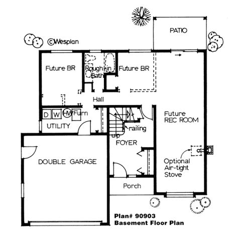 House Plan 90903 Traditional Style with 1292 Sq Ft 3