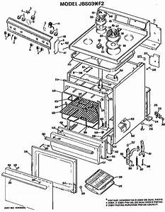 Ge Model Jbs03 F2 Free Standing  Electric Genuine Parts