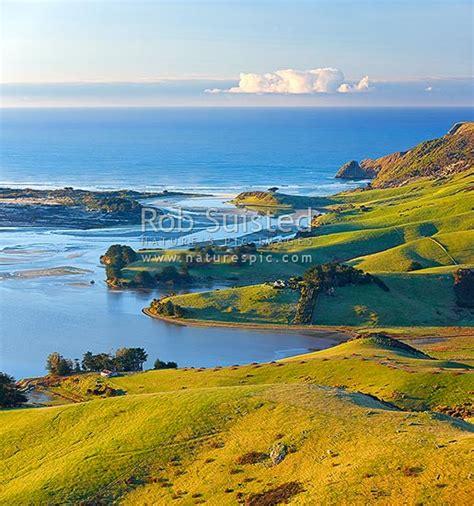 Otago Peninsula Farmland And Beaches Around Hoopers Inlet