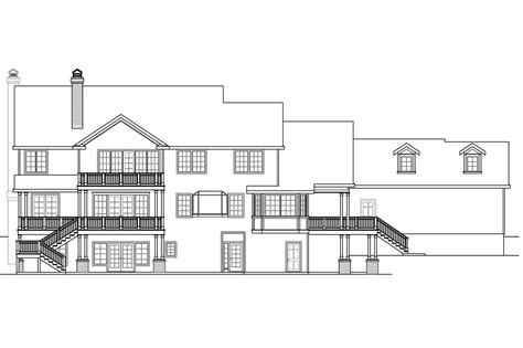sloping lot house plans colonial house plans princeton 30 497 associated designs