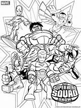 Coloring Squad Super Hero Printable sketch template
