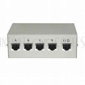 4x1 Abcd Rj45 Manual Switch Box