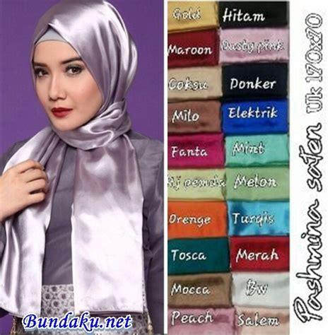 jilbab pashmina pashmina satin polos murah bundaku net