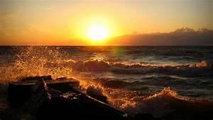 Ocean Sunset Wallpaper 35989 1920x1080 px ~ HDWallSource.com