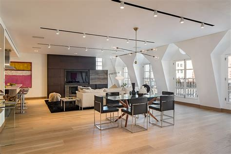 track lighting ideas for living room exclusive new york city penthouse blends tribeca style