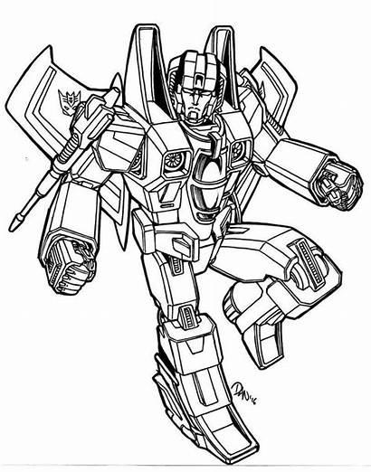 Transformers Coloring Pages Printable Transformer Starscream Decepticon