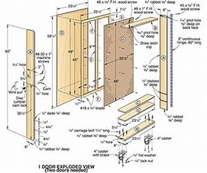 Wood Tool Storage Cabinets Plans PDF Plans