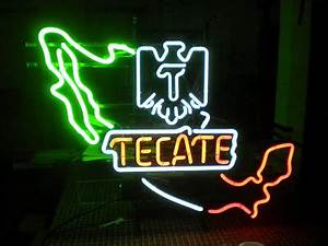 Neon Lab Tecate Mexico sign