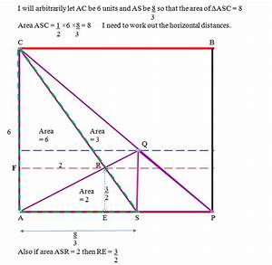 How To Solve The Area Of A Quadrilateral Inside A Triangle