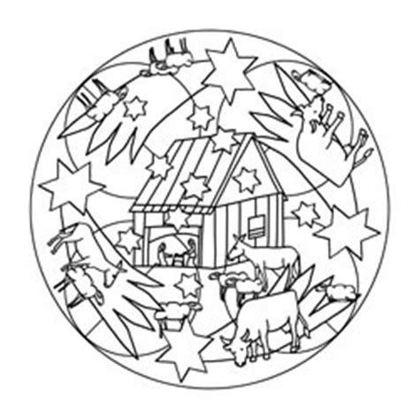 mandala vorlagen fuer weihnachten basteln gestalten
