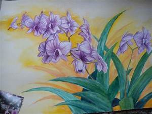 orchid watercolor painting by Bloodsinners-peak on DeviantArt