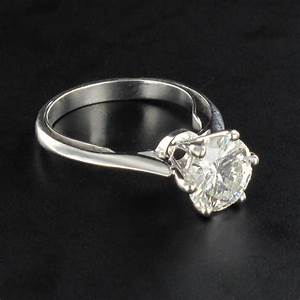 solitaire ring woman diamond 18k white gold modern ring ebay With bague femme