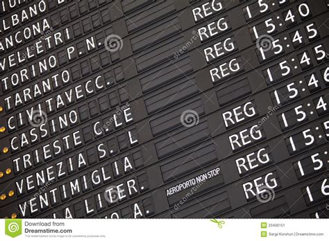 Electronic Train Timetable On Railway Station Stock Image Add Linear Line To Graph In Excel Simon Php Illustrator Color Halimbawa Ng How Make A With Error Bars Horizontal Two Lines