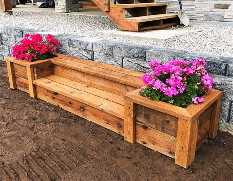 ana white outdoor planter steps  benches diy projects