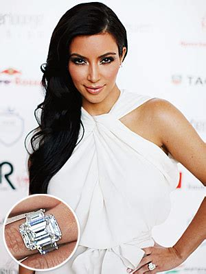 celebrity engagement rings kim kardashian ring