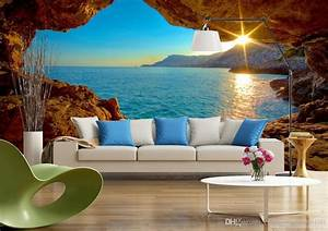 3d Space Sunrise Sunrise Modern Tv Background Wall Mural ...