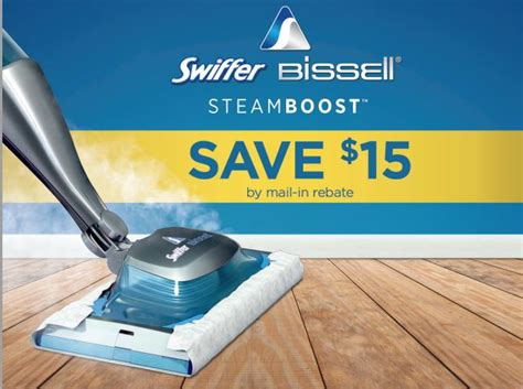 swiffer bissell steamboost mail in rebate