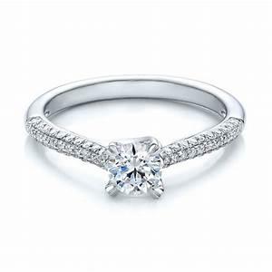contemporary pave set diamond engagement ring 100395 With pave diamond engagement rings wedding bands