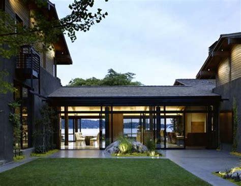 courtyard southwestern single story mediterranean house plans modern adobe  center build