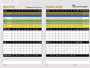 Victoria BC Golf Course Scorecard | Highland Golf Score Card