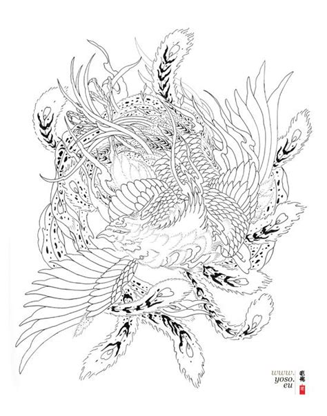 traditional japanese phoenix drawing - Google Search | Tattoos | Pinterest | Search, Design and