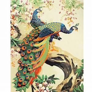 Peacock Digital Oil Painting DIY Oil Painting By Numbers