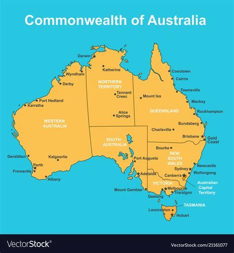 descargar australia major cities map