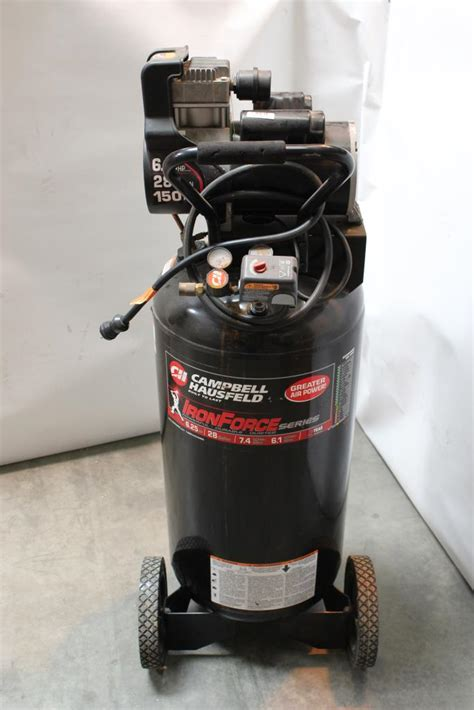 campbell hausfeld ironforce  gallon air compressor