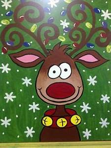 1000 images about Canvas Painting Christmas on Pinterest