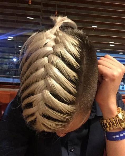 fishtail braid men     straight wavy