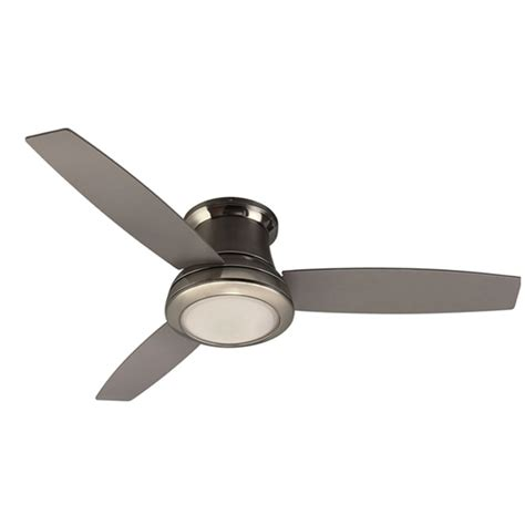 Flush Mount Ceiling Fans With Remote by Shop Harbor Sail 52 In Brushed Nickel Flush
