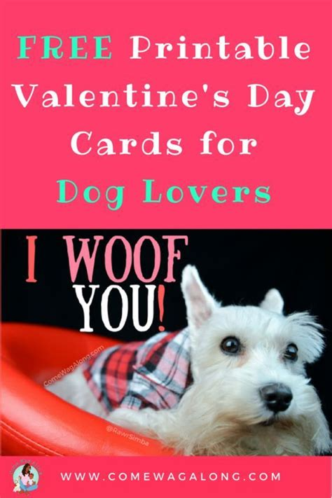 Check spelling or type a new query. FREE Printable Valentine's Day Cards for Dog Lovers | Valentines printables free, Printable ...