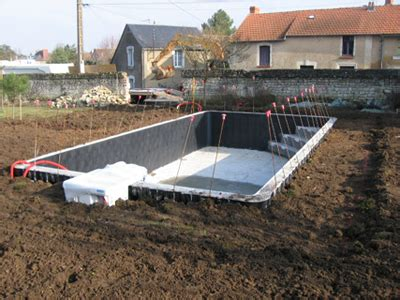 piscine enterr 233 e kit beton