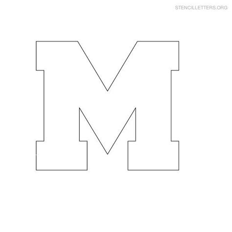 Block Letter Template Free by Free Printable Block Letter Stencils Stencil Letters M