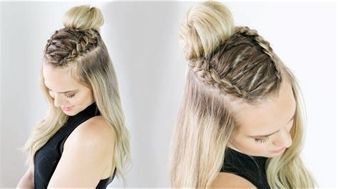 Zig Zag Half Updo on Long and Short Hair KayleyMelissa