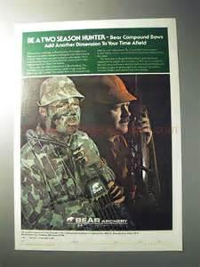 1977 Bear Archery Bows Ad - Be a Two Season Hunter